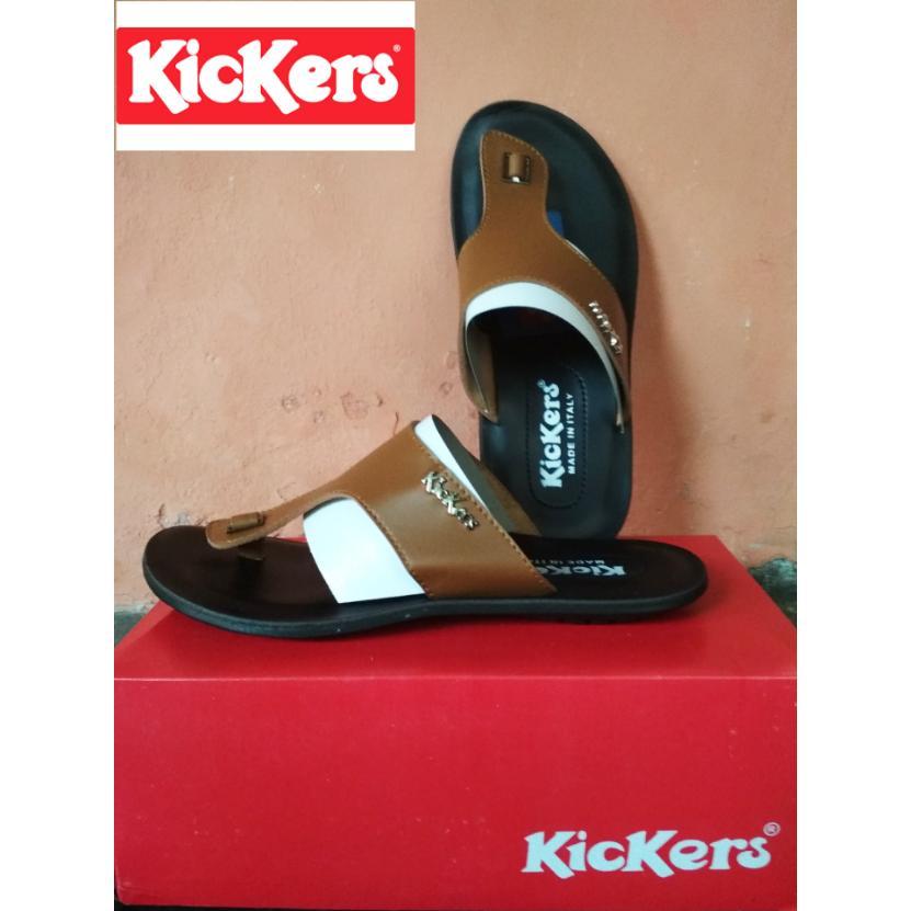 Kickers Sandal Kulit Pria - Sandal Kickers Pria - Sandal Pria Dewasa - Sandal Kulit - Sandal Pria - Fashion Pria Dewasa