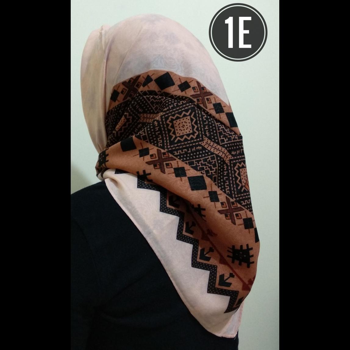 Hijab impor - Jilbab segiempat - Bahan Cotton Emboss - Motif Songket