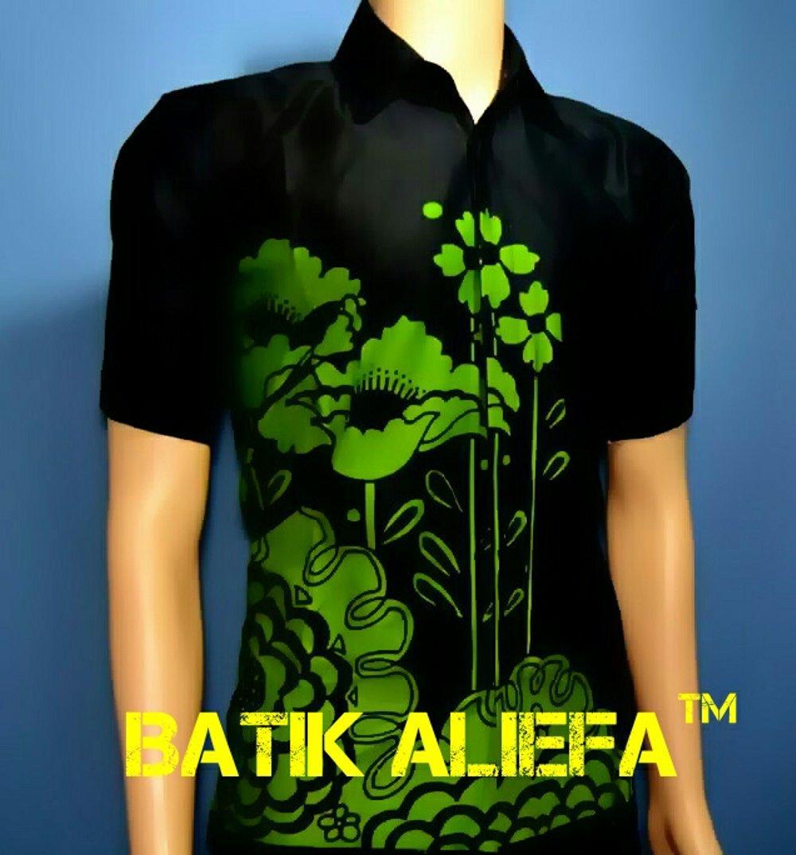 Kemeja Hem Baju Batik Pria Bunga Hitam Hijau Trand Fashion Pekalongan Indonesia Terbaru di lapak Batik Aliefa Pekalongan aliefa99