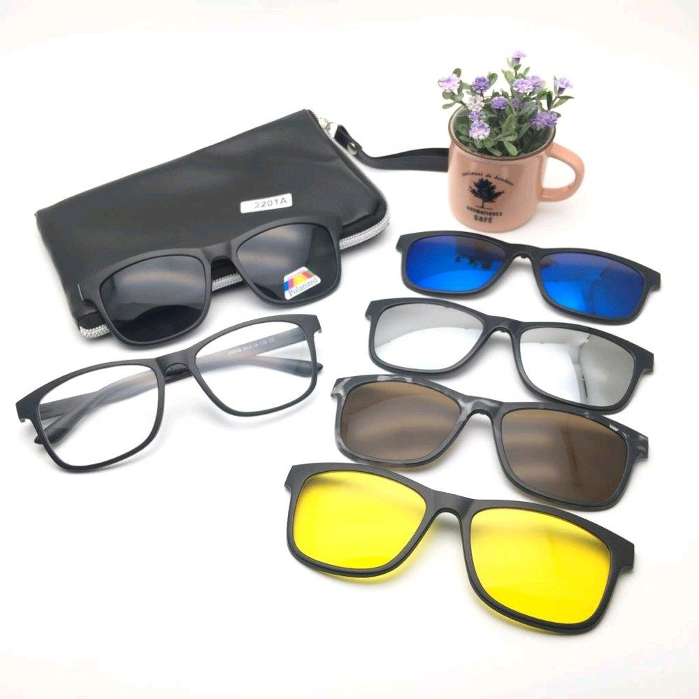 Cek Harga Baru Kacamata Magnetic Sunglasses Clip On 5 Lensa Super Magnet In 1 Gambar Produk Rinci Fullset 1278r Terkini