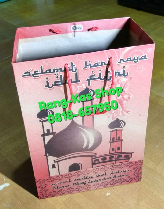 PROMO!!! Paper bag Lebaran Idul Fitri karton doff Merah - Pk7xK0