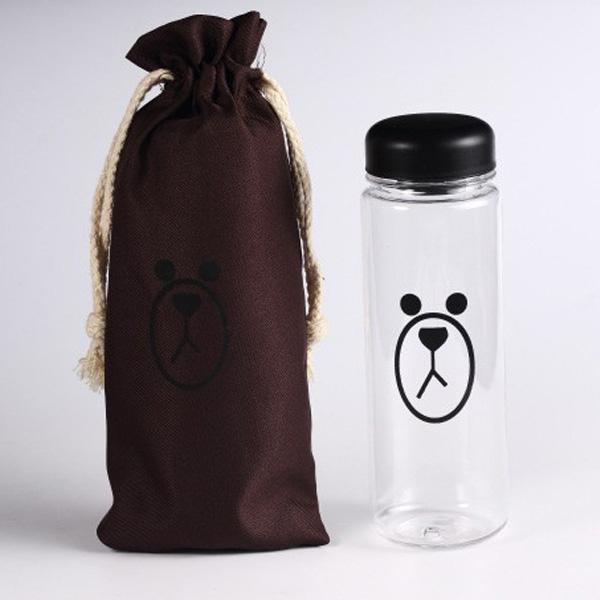 Eigia Botol Minum Plastik Karakter Line Sally & Brown 500ml Bonus Pouch BPA Free Tempat Air Minuman