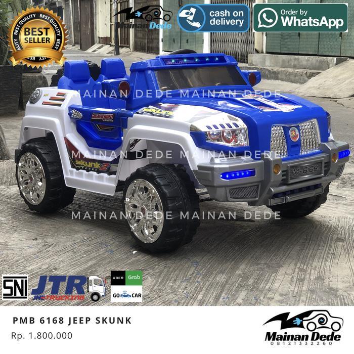 [Ready] Mainan Anak Mobil Aki Jeep Skunk 2 seater PMB M6168 MURAH