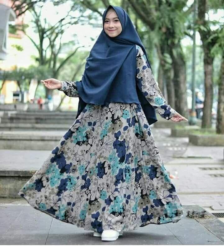 Baju Original Gamis Dress Baju Panjang Muslim Casual Wanita Pakaian Hijab Modern Modis Trendy Terbaru 2018