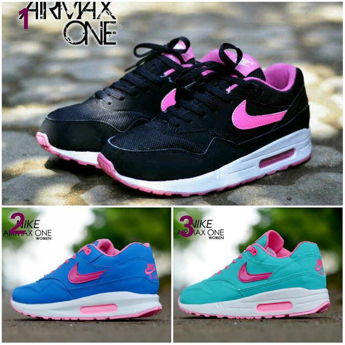Promo Sepatu Wanita Nike Airmax One Olahraga Fitness Jogging Senam Aerobic Diskon