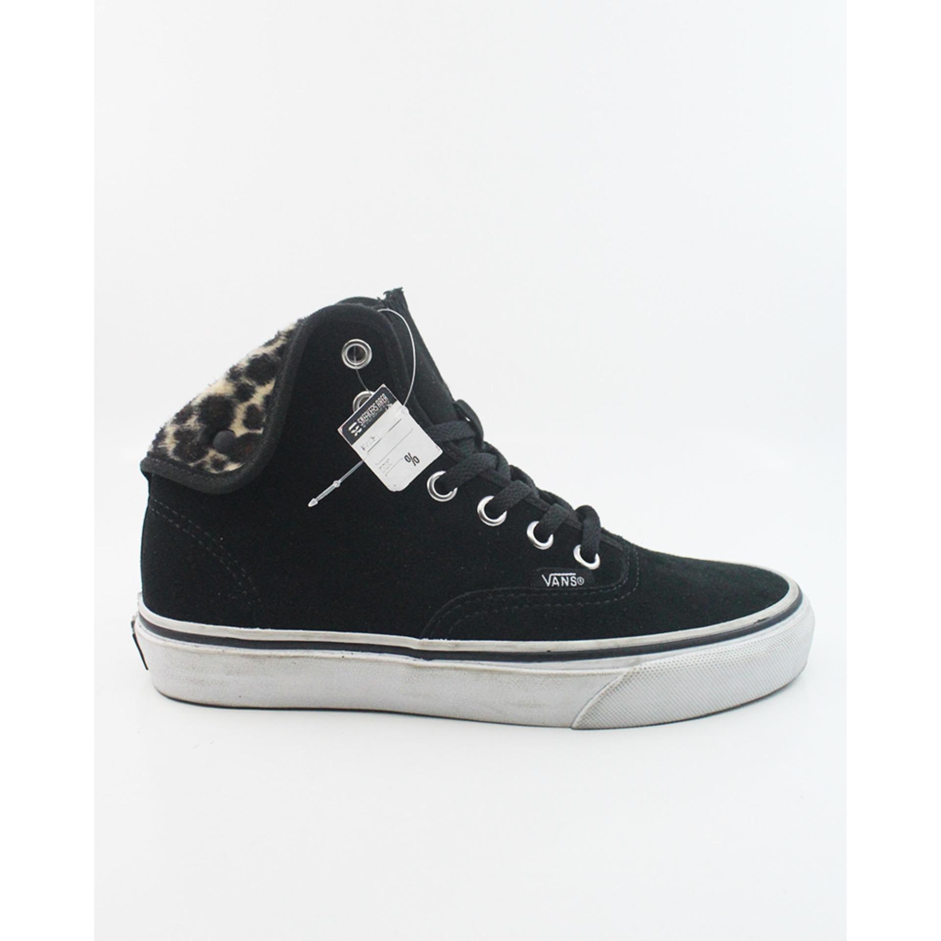 Vans Authentic HI 2 Furry Leopard Sepatu Sneakers Wanita