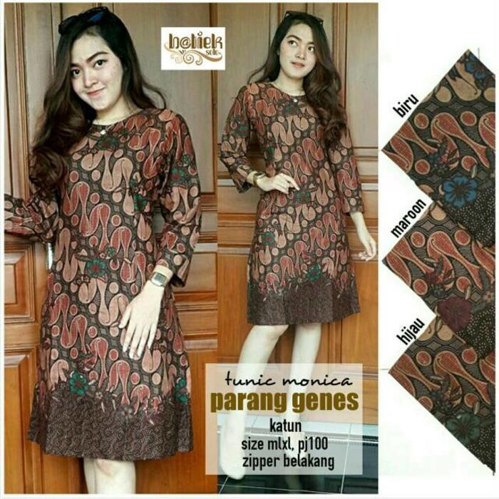 Dress Batik Solo. Tunic Batik Monica Parang Genes Series