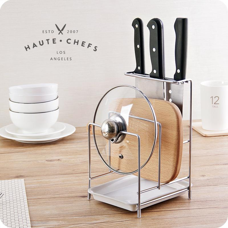 Stainless Steel Multilayer Pot Cover Holder Kitchen Kitchenware Draining Shelf Table-board Chopping Board Rack