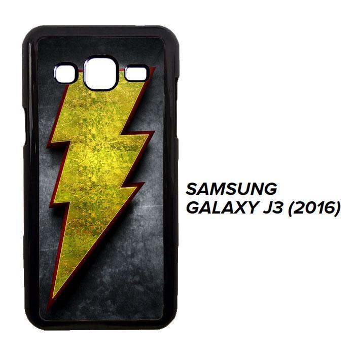 Captain Shazam Superhero LOGO Y0649 Casing Samsung Galaxy J3 2016 Cust