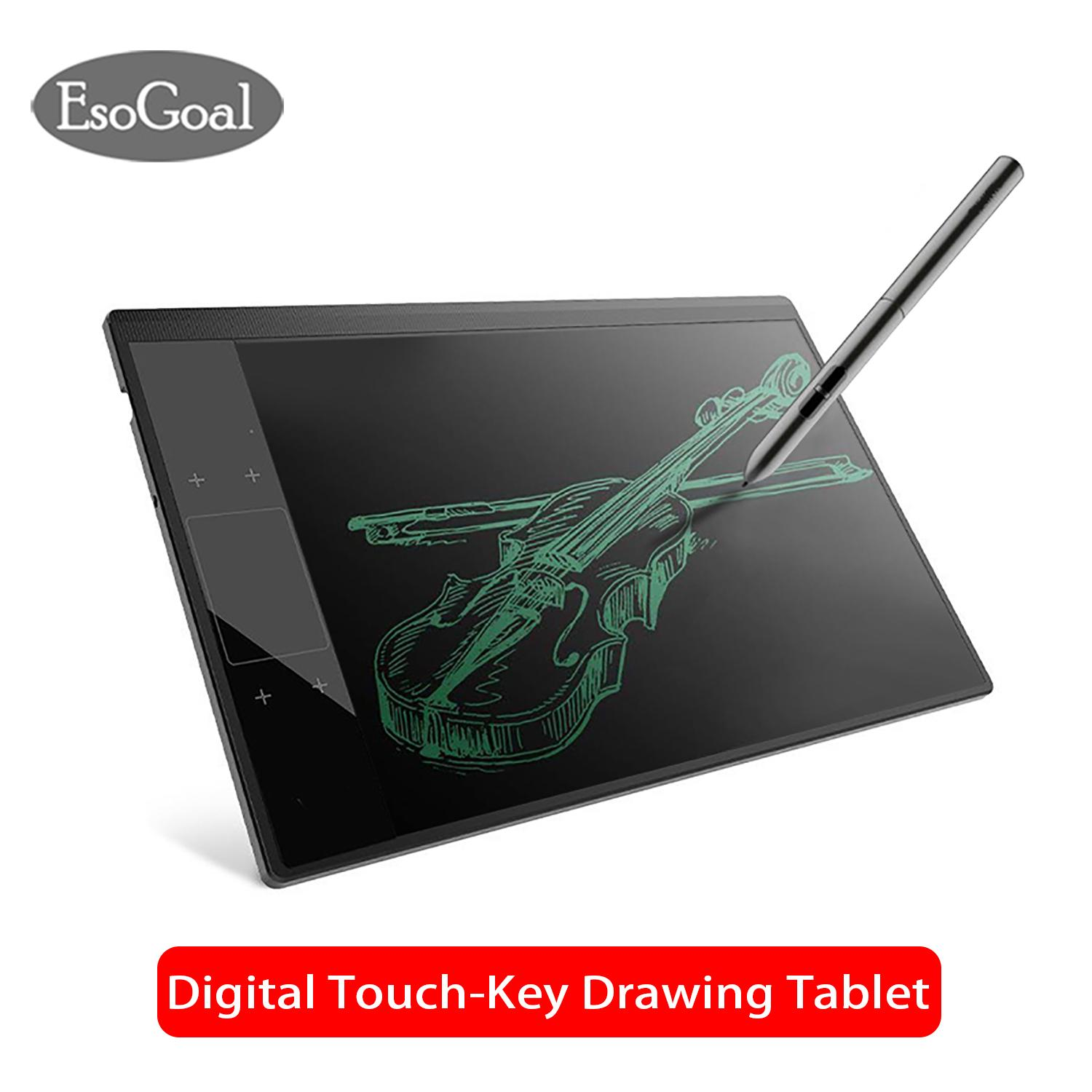 EsoGoal Graphics Drawing Tablet Writing Tablet Digital Drawing Pad with Pen Drawing Board for Windows Mac, 10 x 6 Inches
