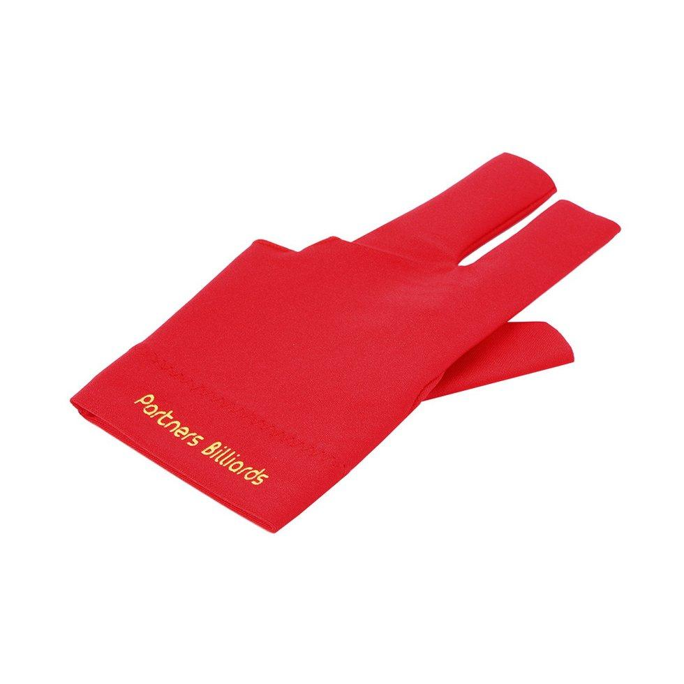 GOFT Spandex Snooker Billiard Cue Glove Pool Left Hand Open Three Finger Accessory Red