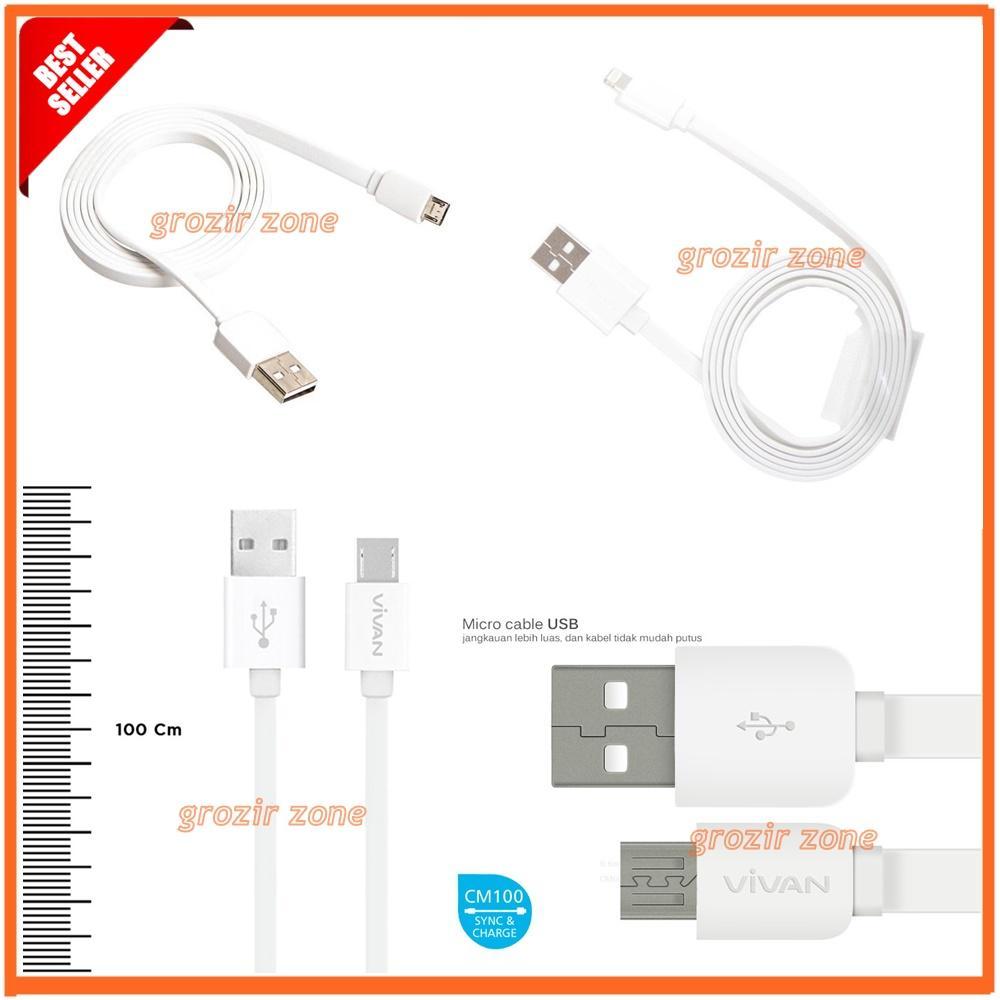 Vivan Kabel Data Iphone 5 / Iphone 6 / 6+ / Ipad AIR / Ipad Mini - CL100 - Panjang 100cm - White ( Grozir zone )