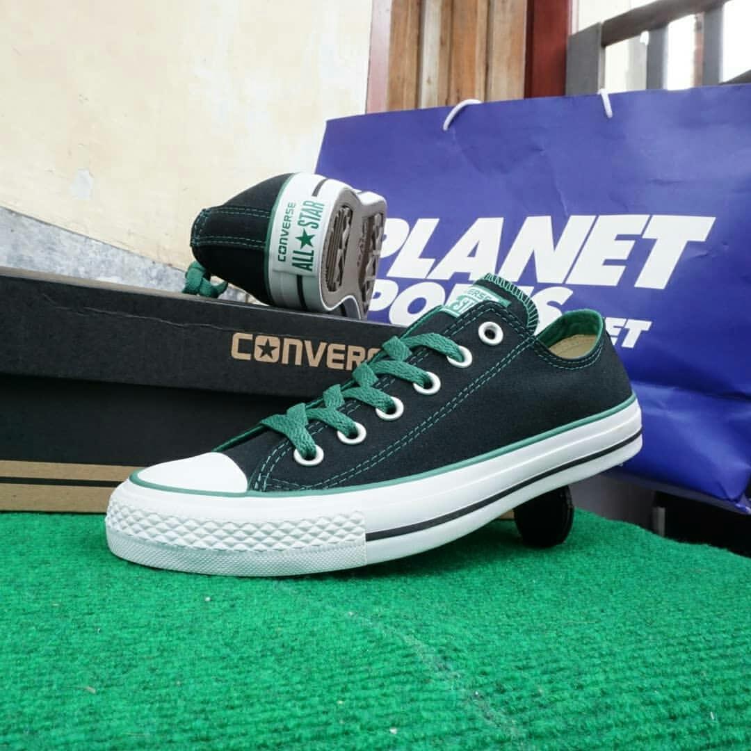 Sepatu Converse LIMITED EDITION!! - Black green unisex (117927)