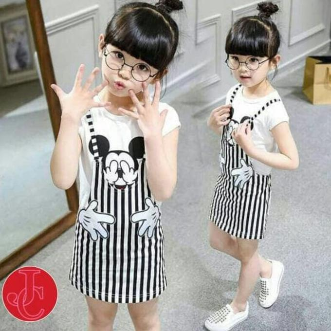 PROMO SALE - BB DM STELAN SET STRIPY MOUSE GIL BORDIR JUMPER KIDS  F001