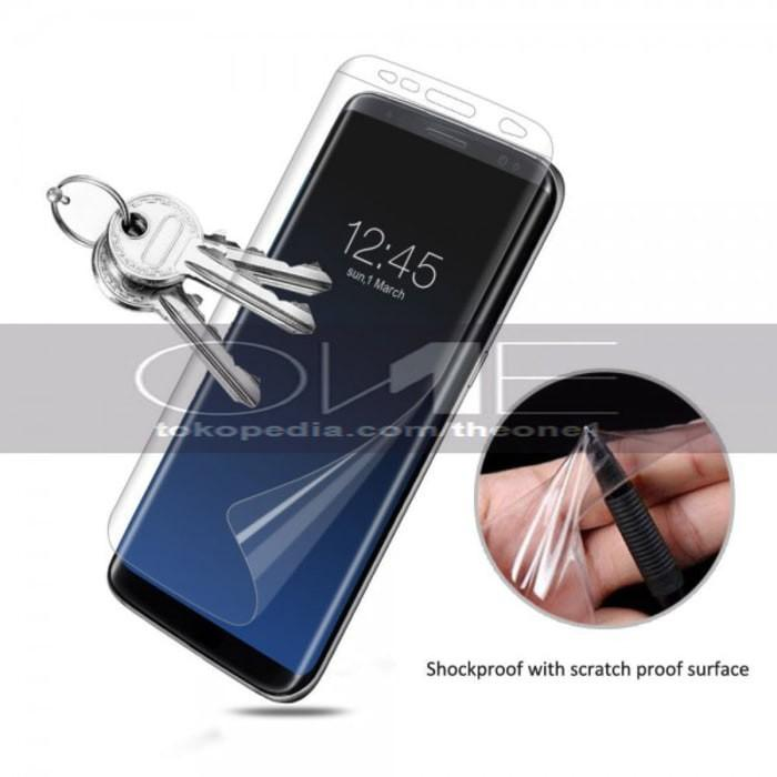 Samsung S8 Plus Anti Gores Full Screen Protector Elastis Nano Clear