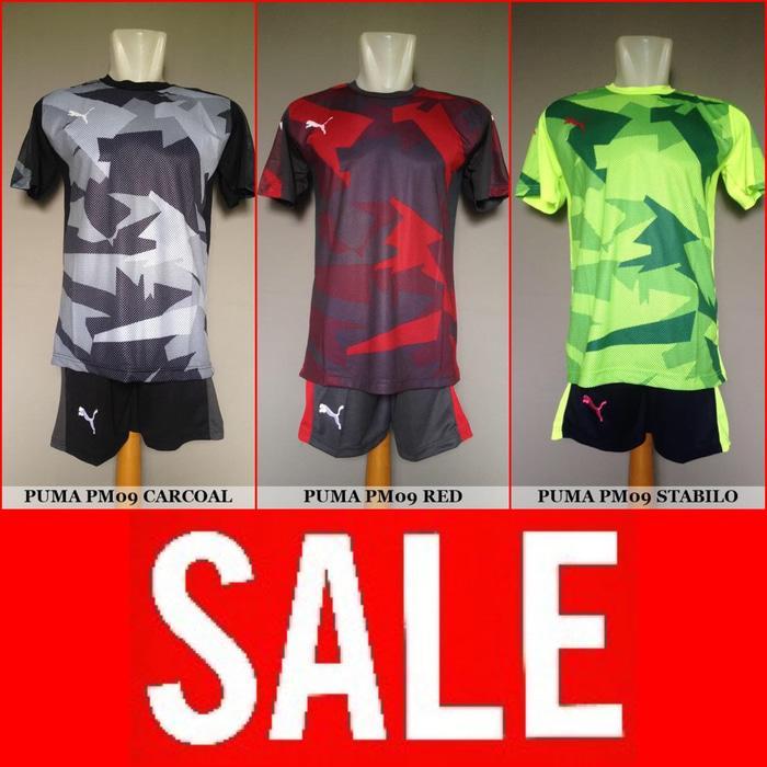 Setelan Futsal / Sepakbola Puma PM09 (Baju Kaos Jersey Bola Celana)