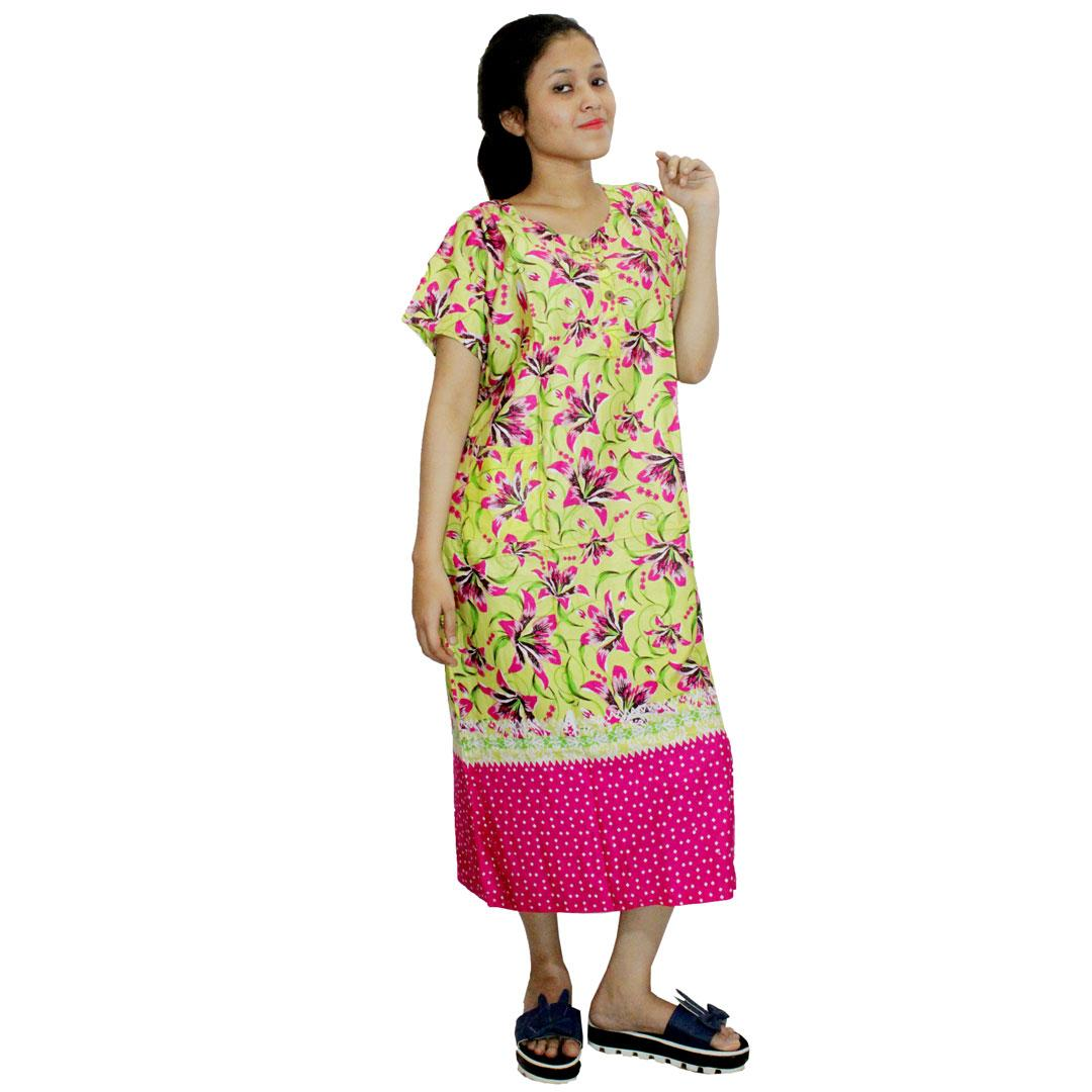Daster Batik, Daster Lengan Pendek, Baju Tidur, Piyama, Kancing, Daster Bumil, Daster Busui (DPT001-17) Batikalhadi Online