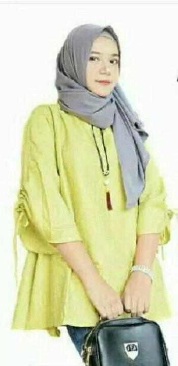 Baju Muslim Modern Blouse Moren Blus Baju Wanita Atasan Baju Muslim Simple Modis Pakaian Kerja Casual