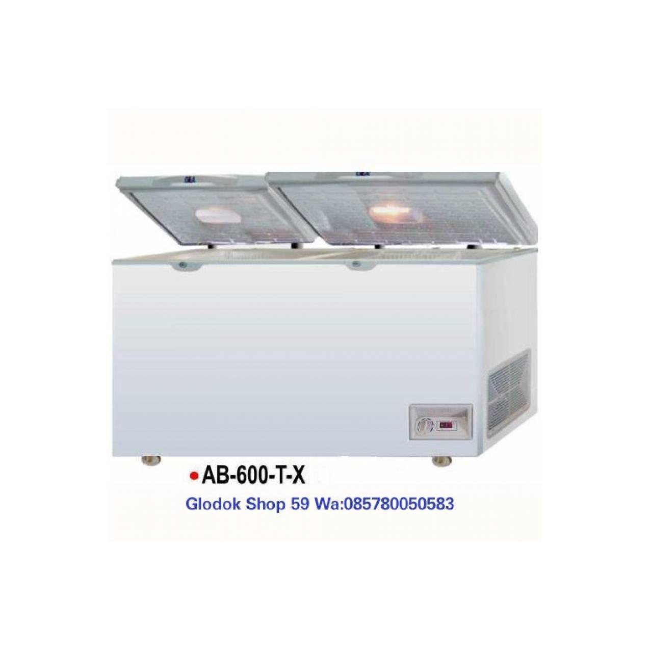 CHEST FREEZER GEA AB-600T-X KABINET PEMBEKU THERMOMETER DIGITAL NEW