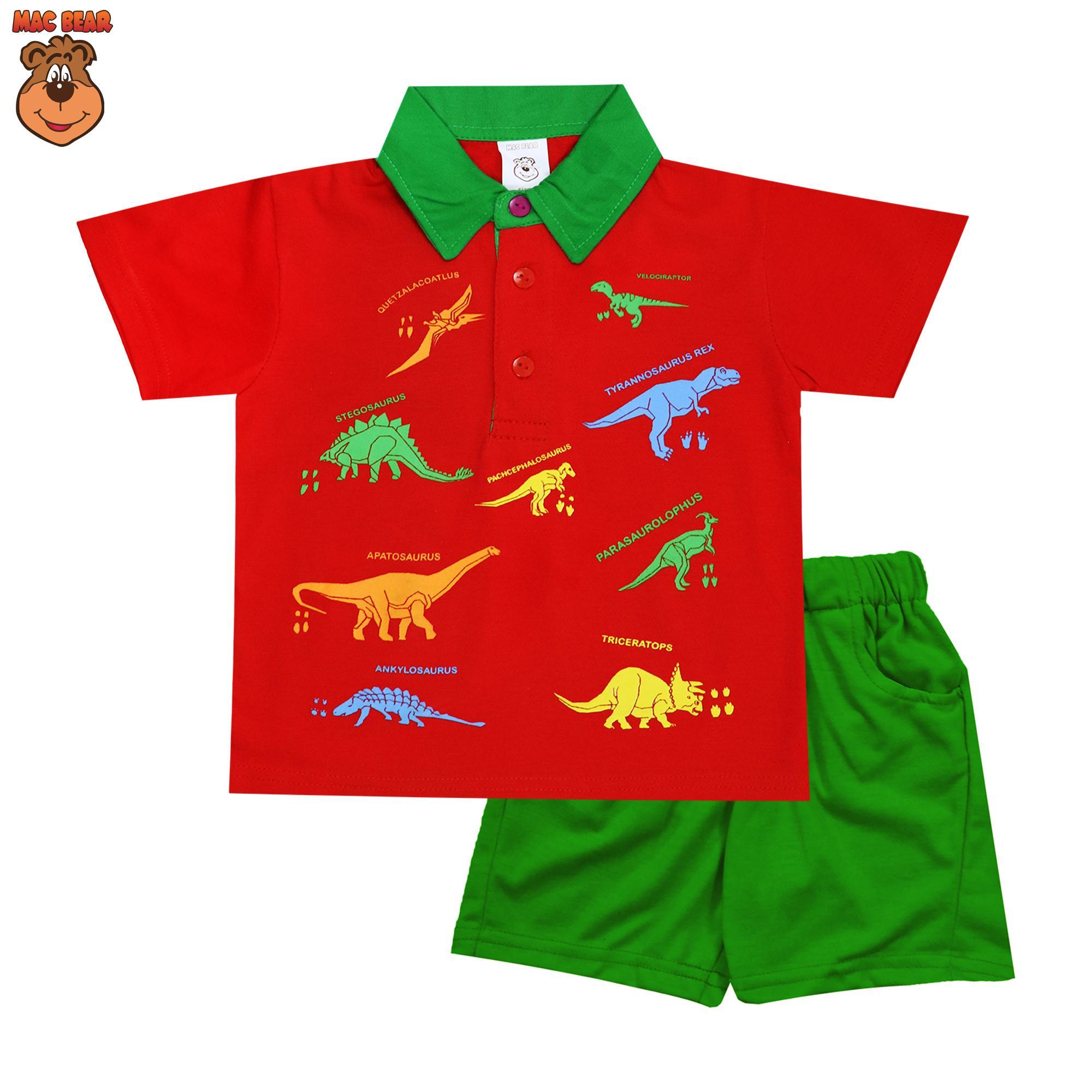 MacBear Kids Baju Anak Setelan Polo Kind Of Dino