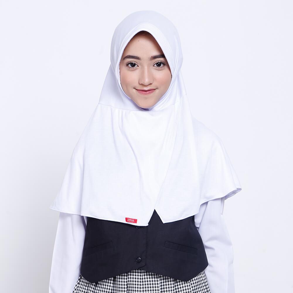 Zoya Kerudung Anak / Kerudung Sekolah / Bergo / Hijab Instant Smal- Cerdasmini
