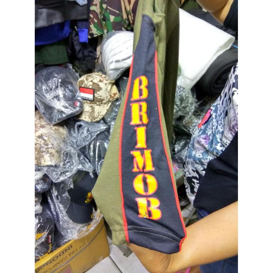 Kaos Brimob Taiping - Bahan Kaos Pe - Sale Promo!!