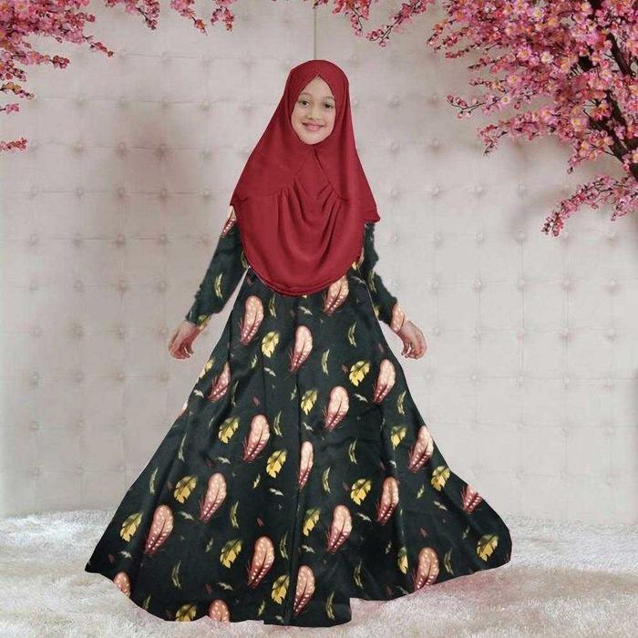 Newone Shop Wilona Gamis Syari Anak Perempuan
