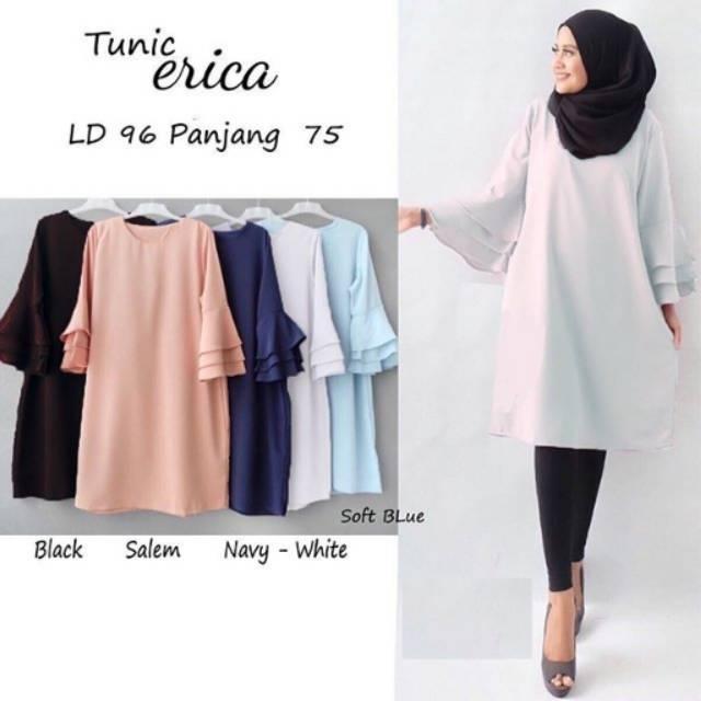 Jual Baju Atasan Blouse Wanita Terbaru & Terlaris Paling Trendy Erika Pocket Hitam Harga Spesifikasi.
