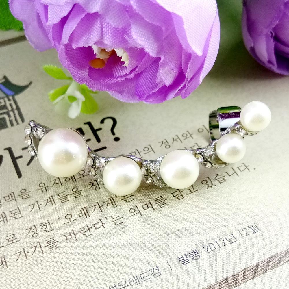 Anneui - EE0115 - anting tusuk korea model bola bola mutiara kpop korea jpop japan