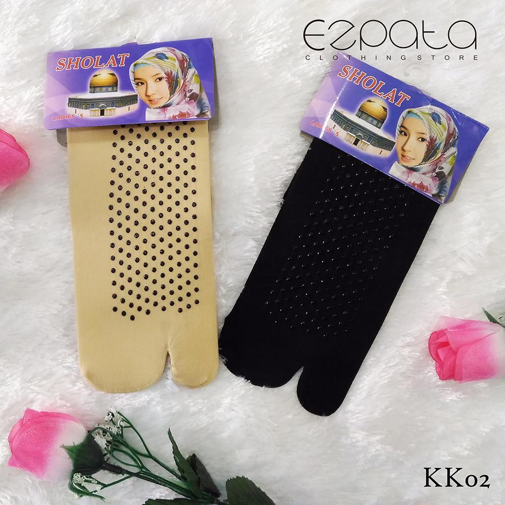Ezpata Kaos Kaki Stocking - 2 Psg Kaus Kaki Anti Selip/ Licin Wanita Remaja Dewasa Muslimah Jempol