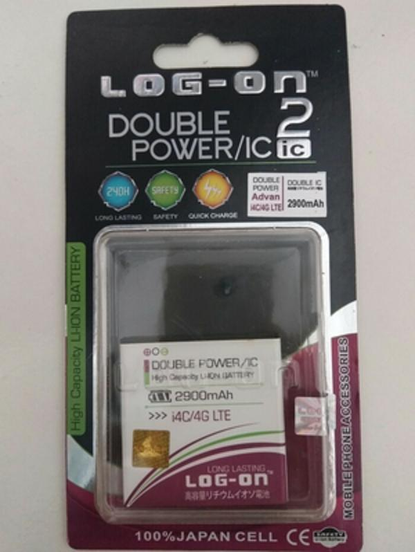 Battery Batre Baterai Double Power IC Log On Advan I4C