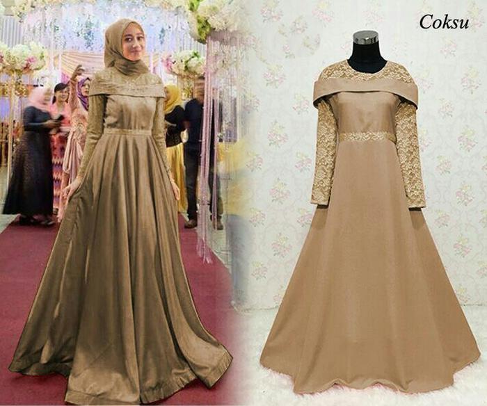 Cek Harga Baru Sabrina Maxi Gamis Premium Baju Muslim Wanita Hijab