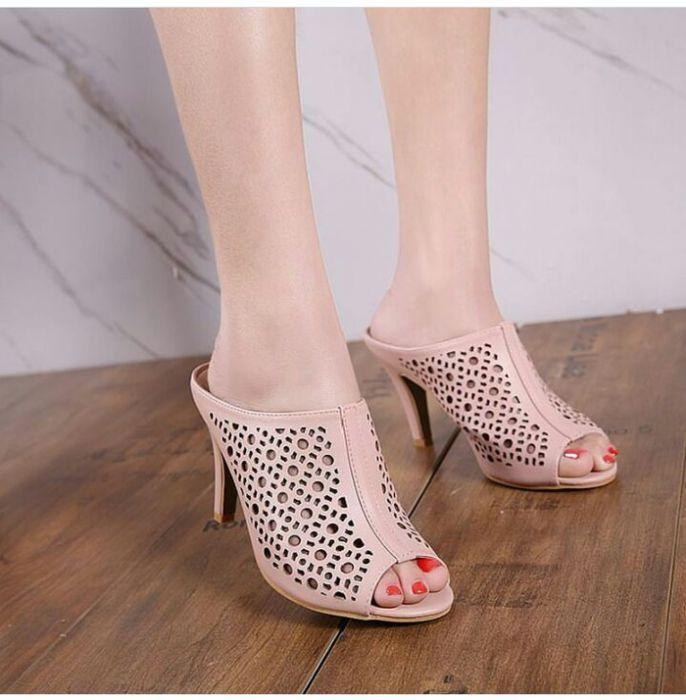 Sepatu Wanita High Heels SL19 PINK Elegant utk Pesta dan Kerja Murah Berkualitas