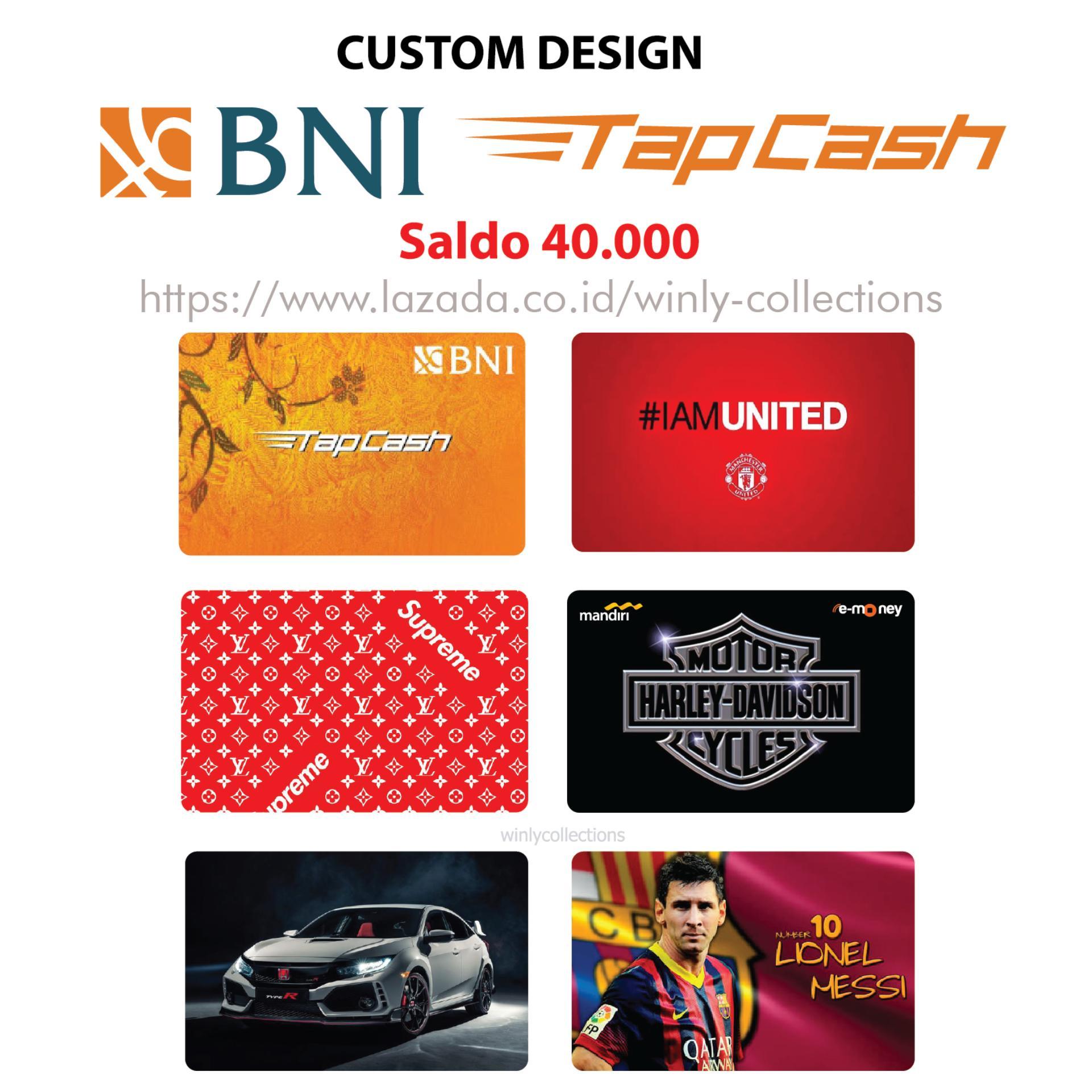 Fitur Harga Spesial Kartu Emoney Mandiri Plat Nomor Custom Print 1 Etoll Frint Sisi Bni Tapcash Design 2 Saldo 30 Rb