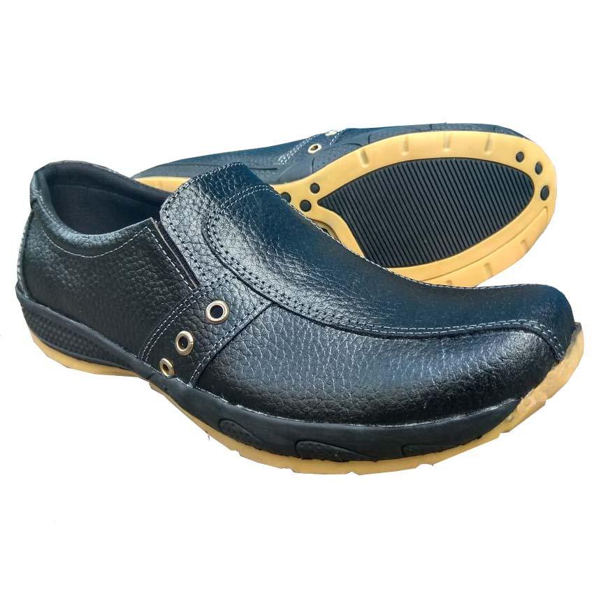 QiqiAji Sepatu Pria 100% Kulit Asli Casual Anti Licin - Crocodile