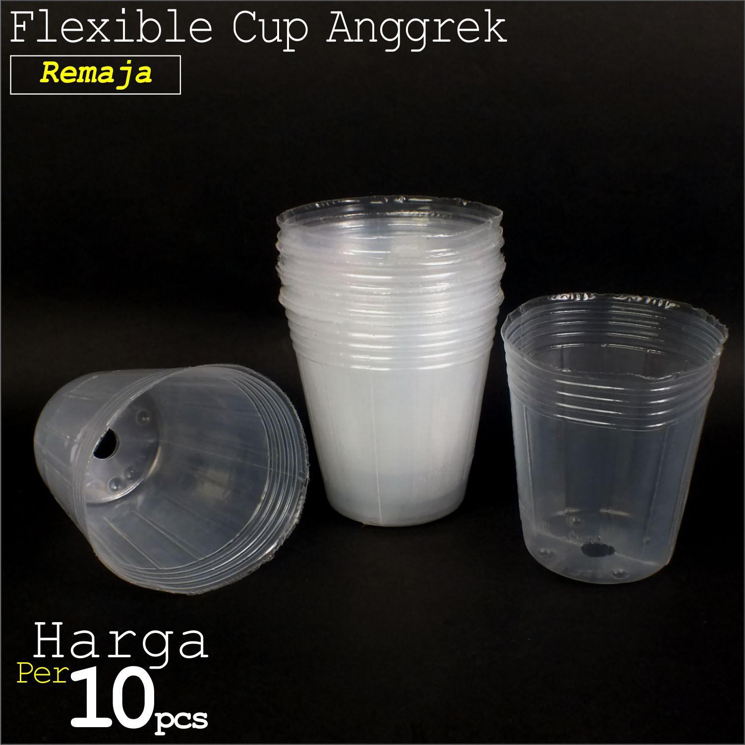 Sumber Plastik - Pot Plastik Flexible Cup Anggrek Pot Bibit Seedling Remaja 2.5 - 8 cm