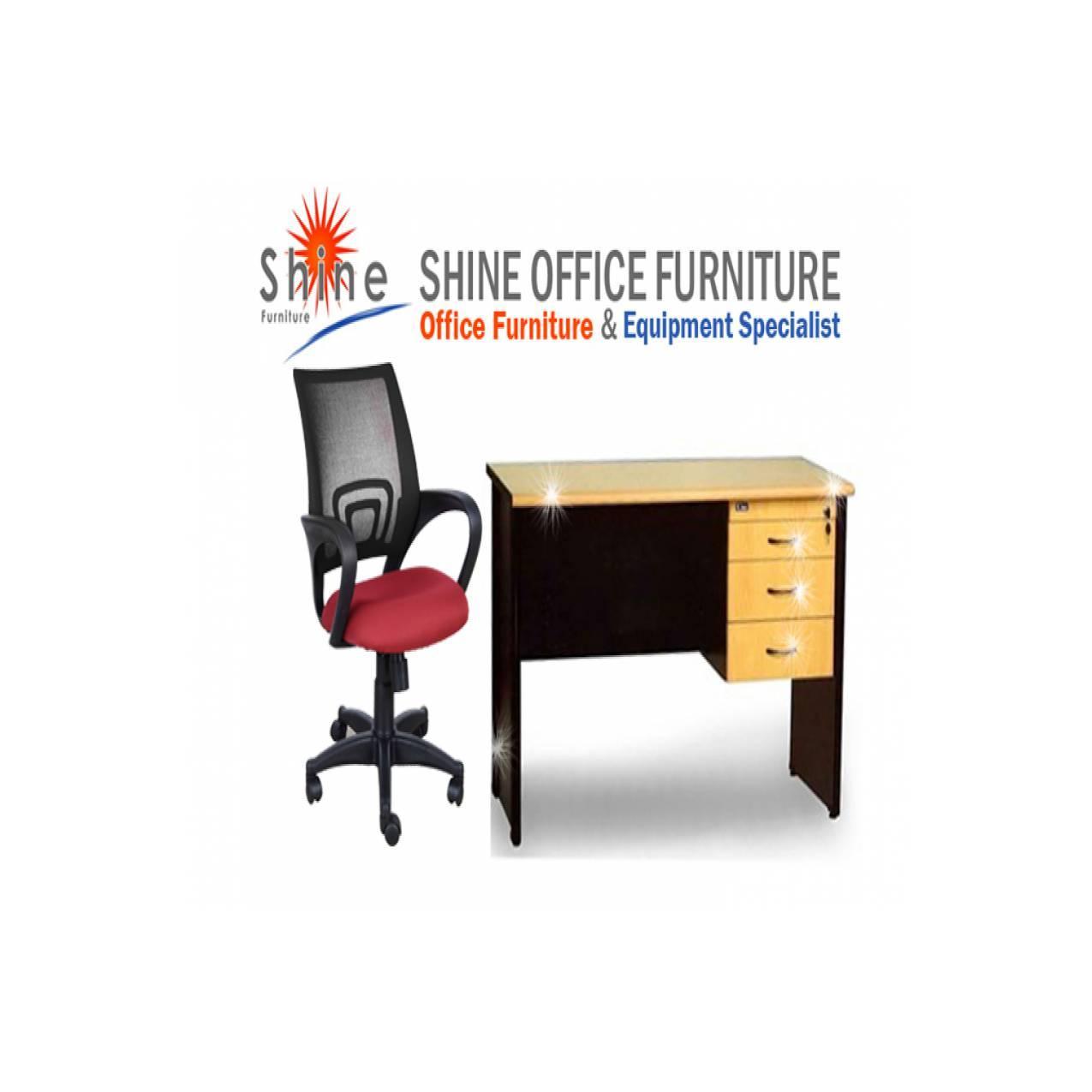 Beli Sepaket Produk UNO / 1 set meja dan kursi kantor Uno