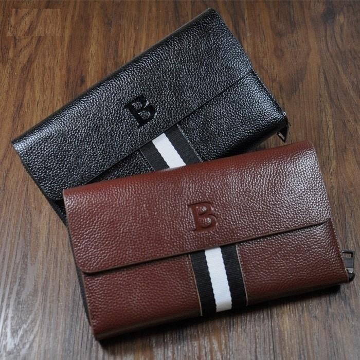 Hand Bag Kulit Model Bally Guci Strip Import Pria Wanita Tas Dompet - 2Jhkww