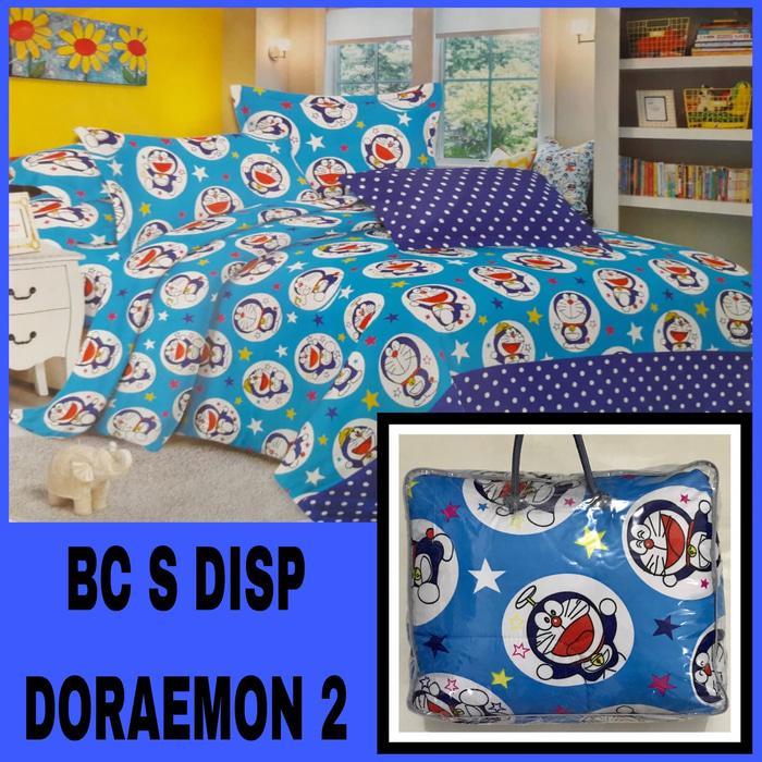 Terbaru Laris -  Bedcover Set (Bedcover + Sprei) Karakter Doraemon Disperse Single Size Kode BANGSA-sprei79