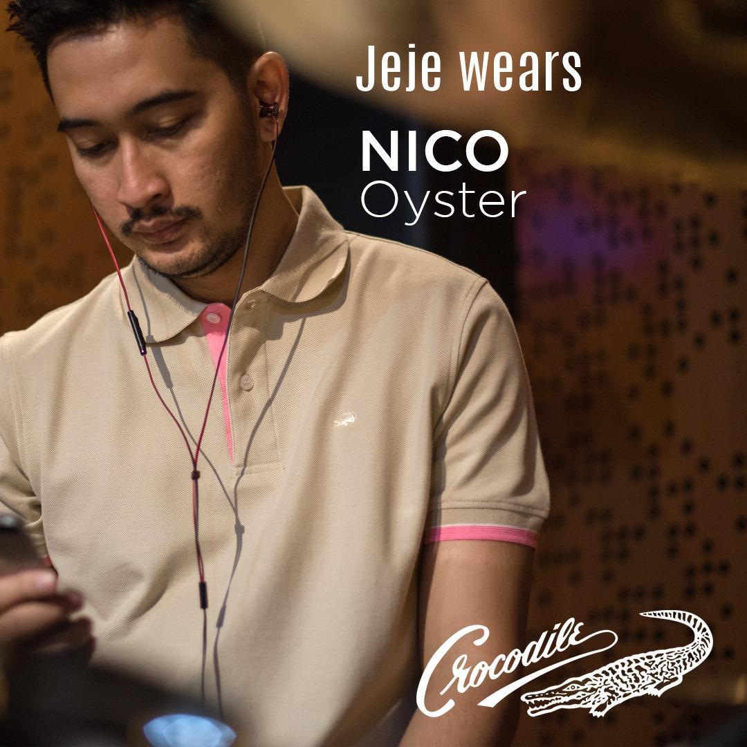 NICO Oyster - Baju Pria Crocodile Men Polo Shirt - Bahan Katun 100% Cotton - KHUSUS PENJUALAN ONLINE