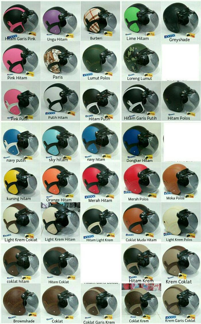 helm kyt / helm bogo / helm full face / helm ink / helm sepeda /helm motor/helm nhk/helm retro/helm anak/helm gm Helm Retro Kaca Bogo Classic Vespa Murah