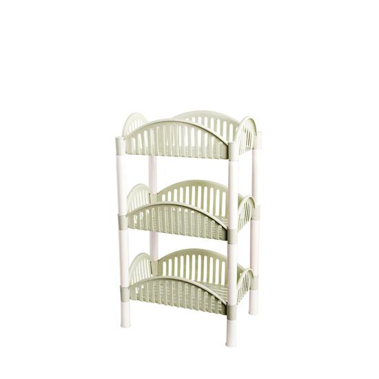 Ju la casa Plastic Multilayer Organizing Rack Kitchen Living Room Storage Shelf Bathroom Landing Cosmetics Storage Rack