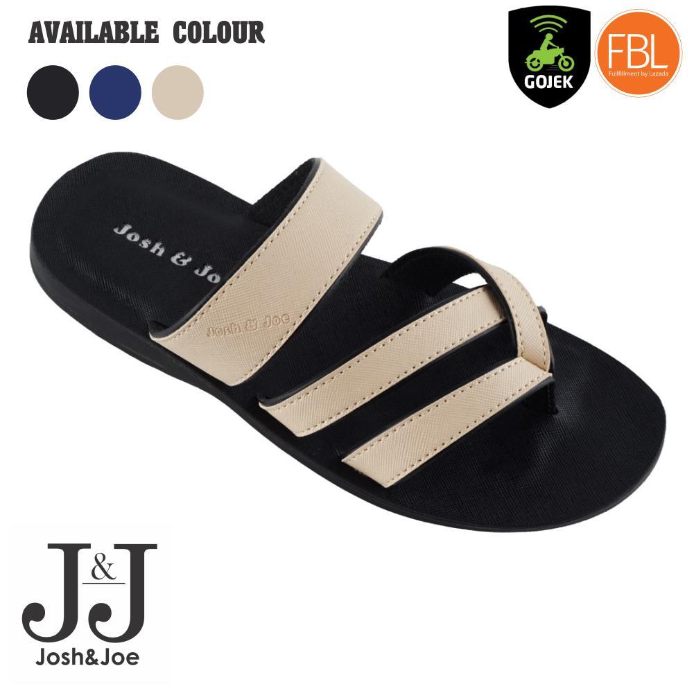 Josh&Joe / fashion pria / sandal murah / sandal pria / sandal pria kulit / sandal pria casual / sandal pria dewasa / sandal gunung pria/ sandal jepit pria SCRM/SBLK/SBLU