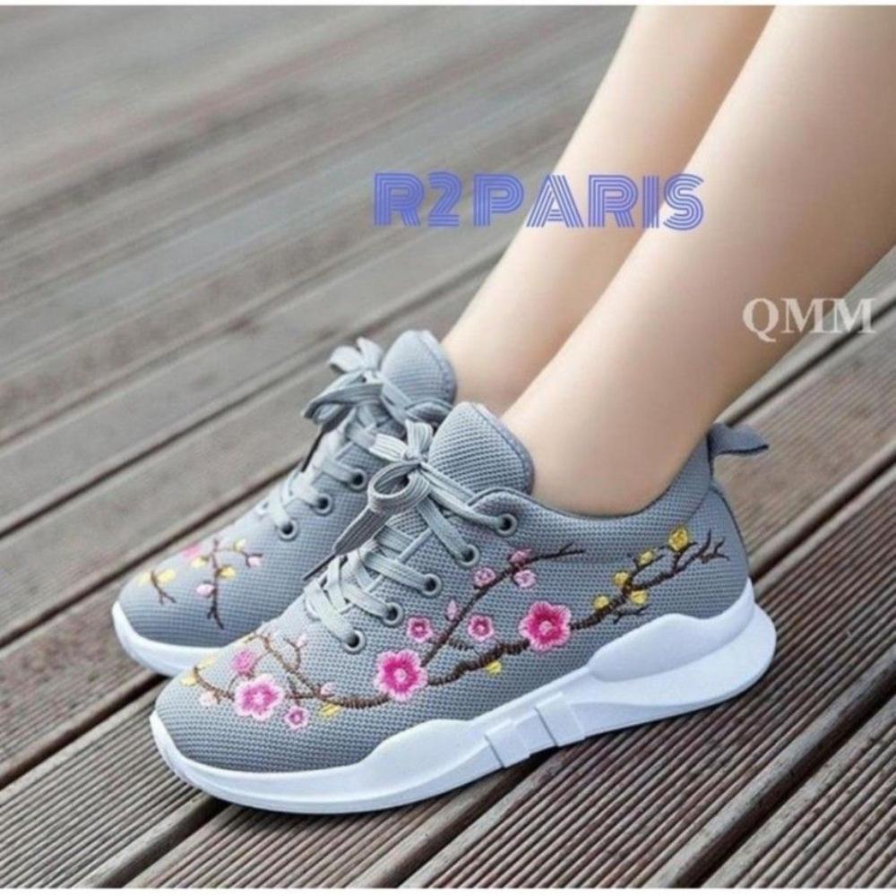 Sepatu Fashion Dn 50a Abu Bordir
