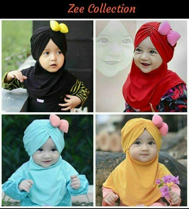Jilbab anak pita kombinasi