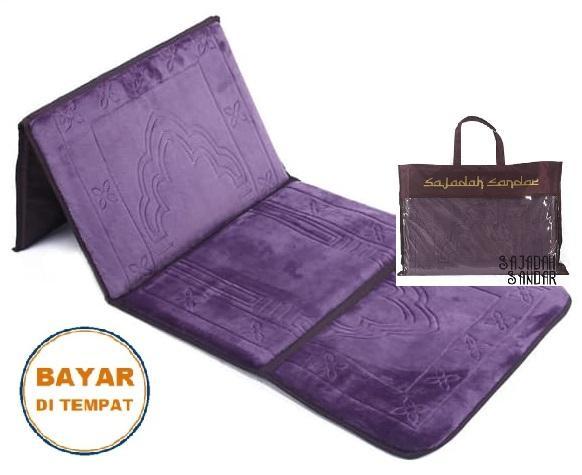 (UNGU) 1 Sajadah Sandar Surabaya 100% Premium Quality Sajadah Lipat Portable Beludru