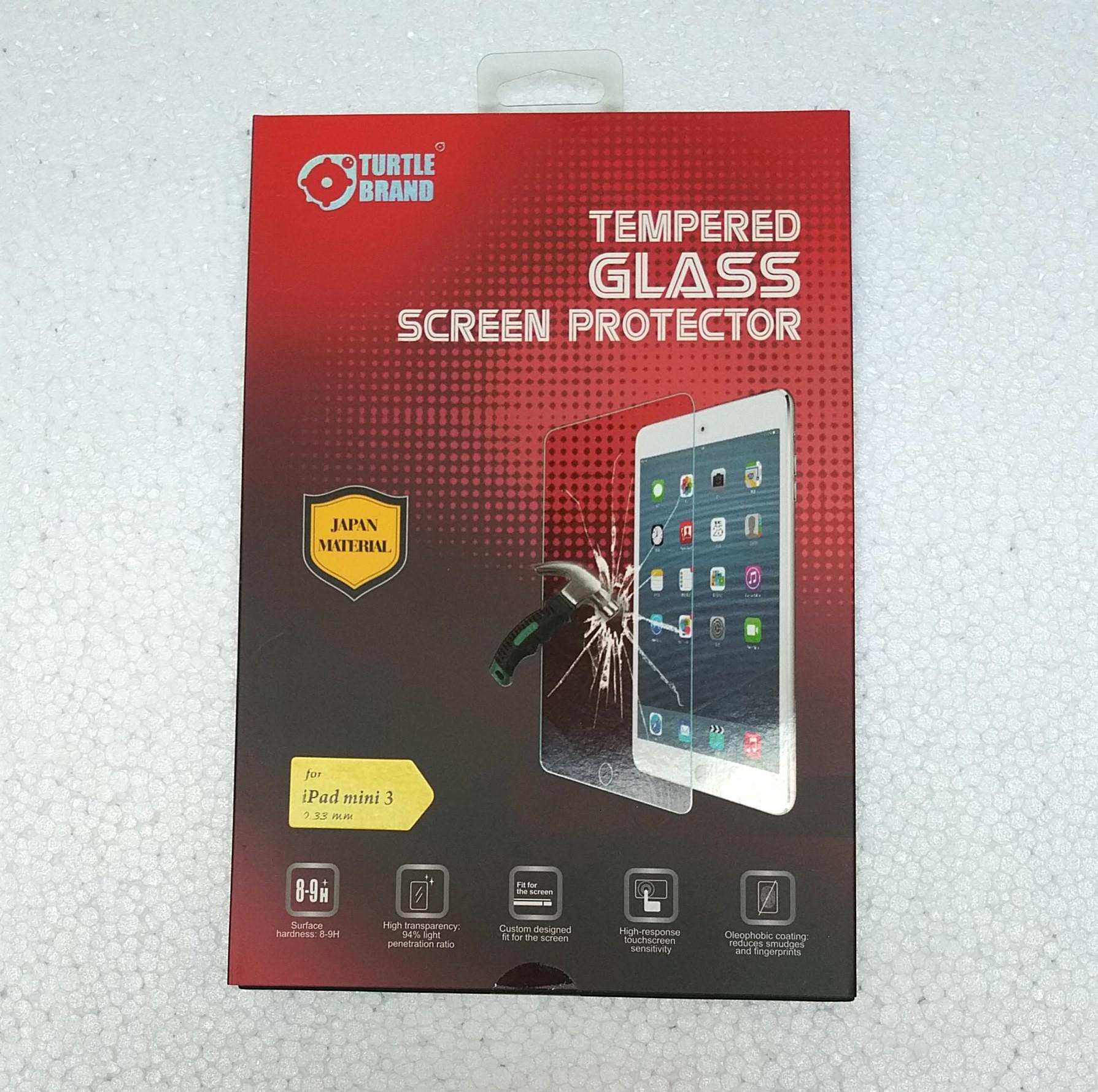 Tempered Glass Ipad Mini 1/ 2/ 3 Oleophobic Coating 0,33 MM Turtle brand