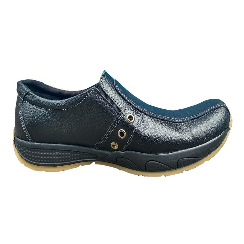 QiqiAji Sepatu Crocodile Casual 100% Kulit Asli For Men - Hitam