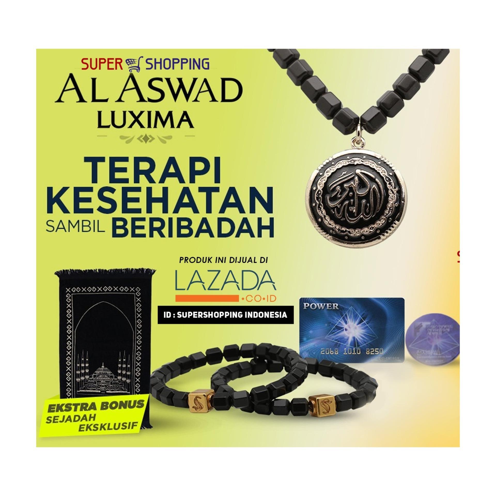 AL ASWAD LUXIMA - ISI 1 Kalung dan GRATIS 2 Gelang Kesehatan dan Sajadah