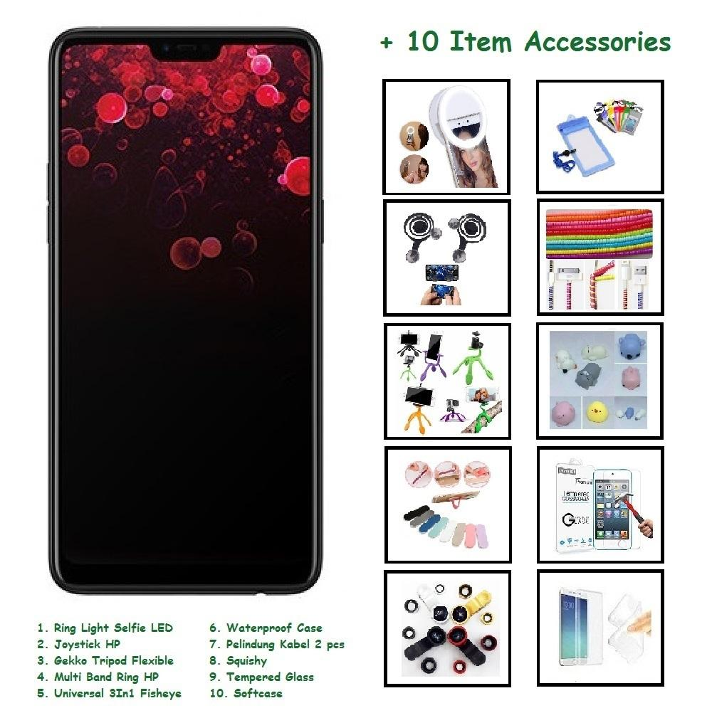 OPPO F7 [4/64GB] + 10 ITEM ACCESSORIES